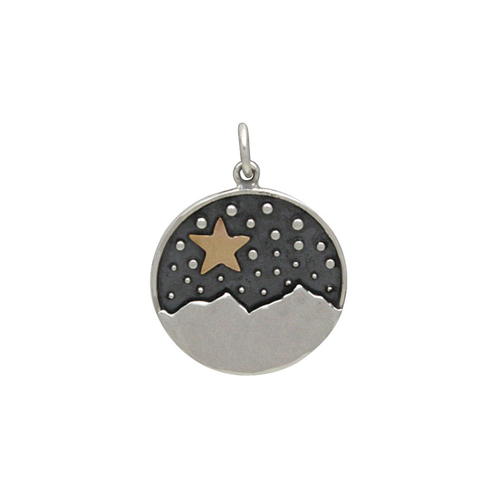 Mountain Pendant with Bronze Star-3157 - Kevin N Anna