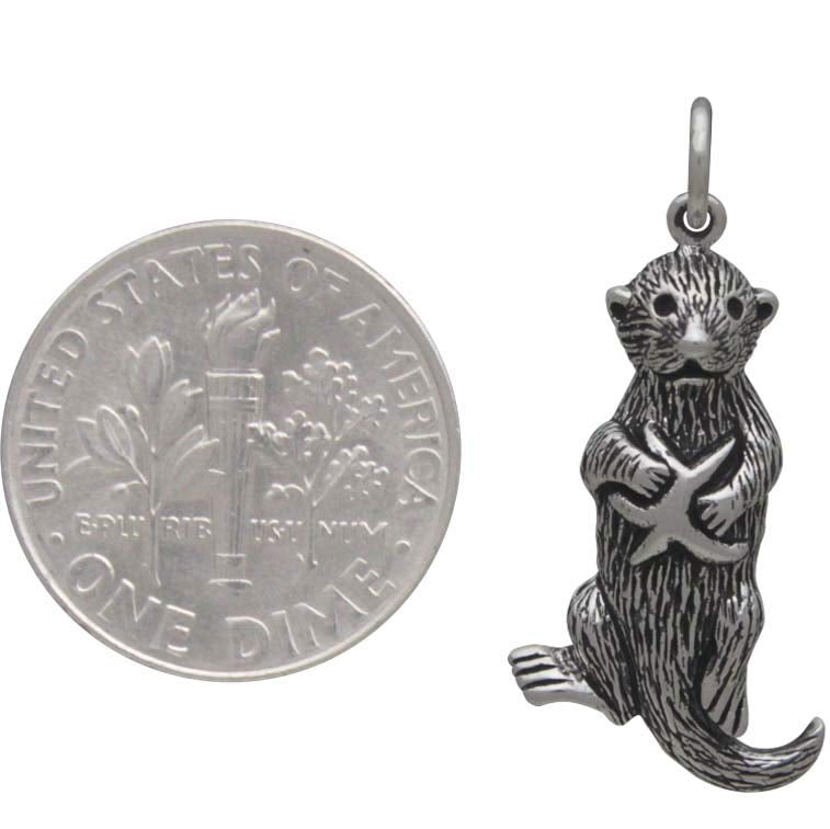Sea Otter Charm with Starfish-4033 - Kevin N Anna