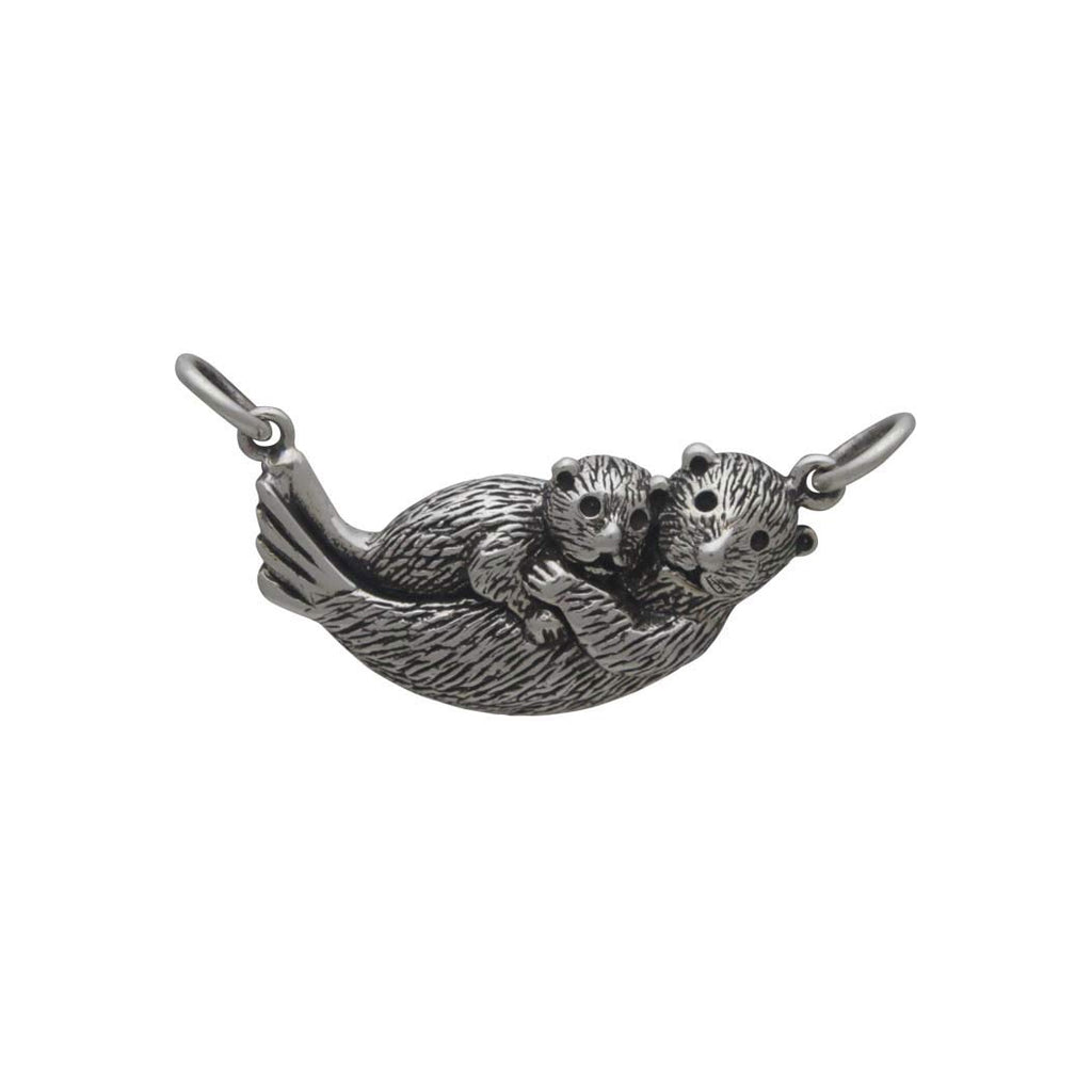 Mama and Baby Sea Otter Pendant Festoon-4035 - Kevin N Anna
