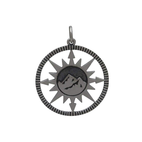 Compass Charm with Spinning Needle-3235