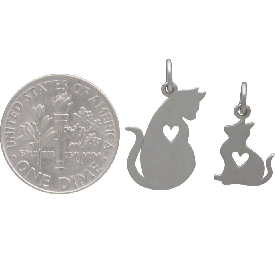 Mommy and Baby Cat Charm Set-4068