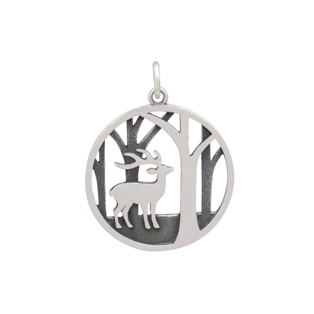 Deer Charm with Trees-4152