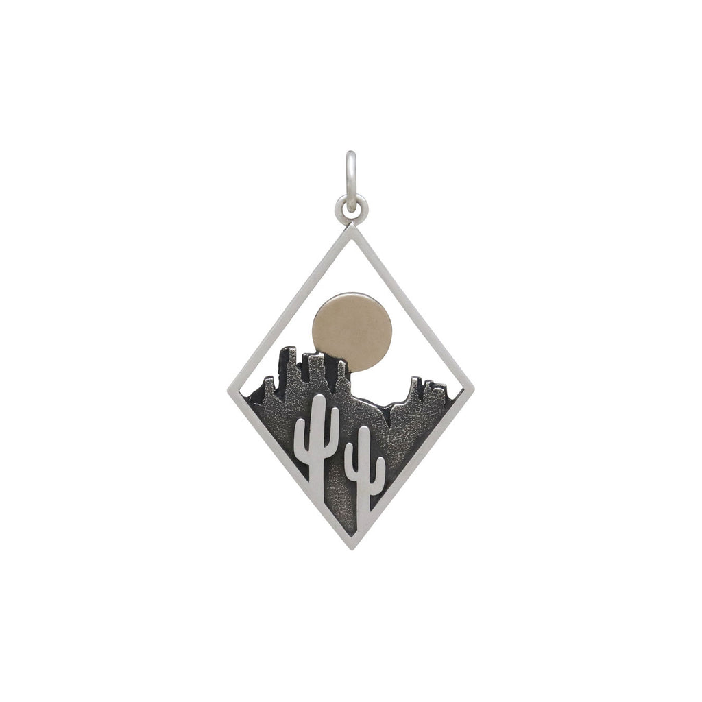 Cactus Charm in Diamond Frame-4157