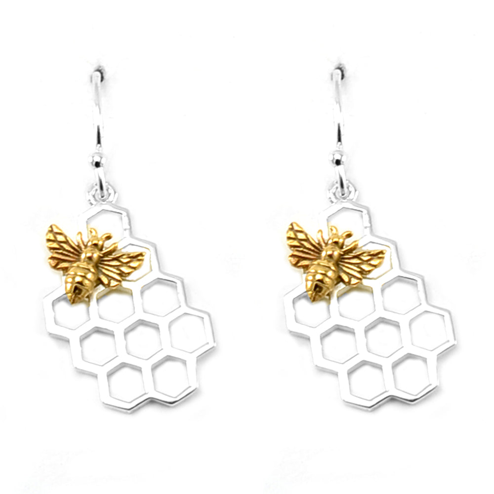 Honeycomb Earrings-6012E