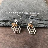 Honeycomb Earrings-6012E - Kevin N Anna