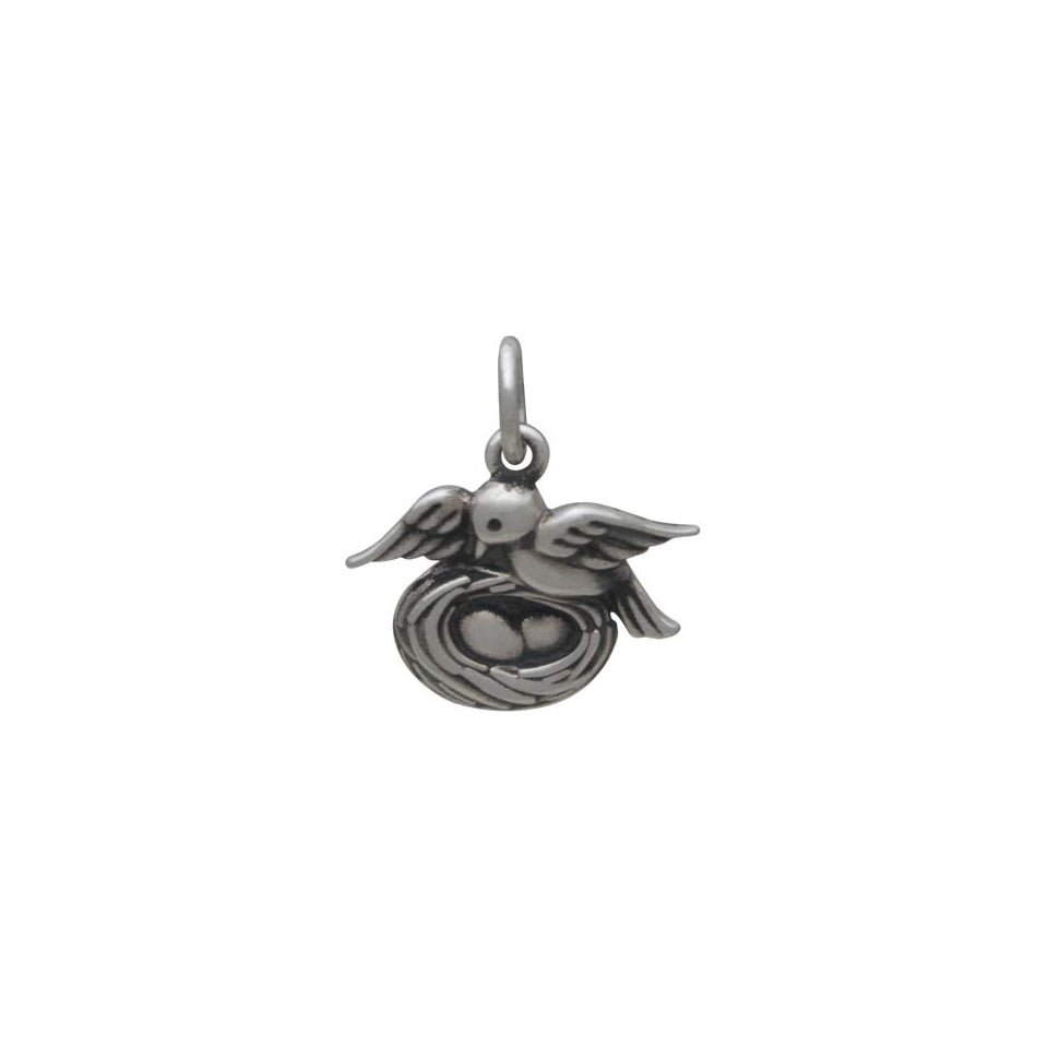 Mama Bird Charm with Nest-6020 - Kevin N Anna