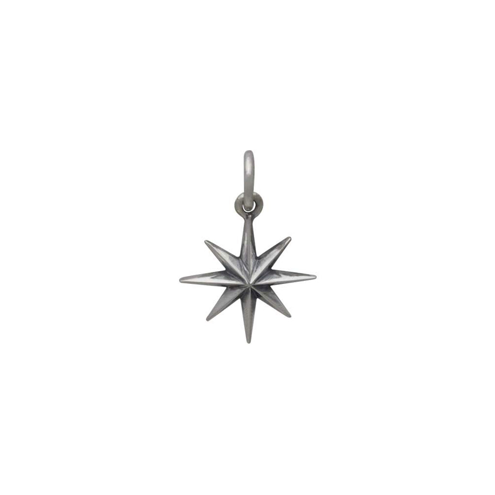 Ridged Star Burst Charm with 8 Points-6126 - Kevin N Anna