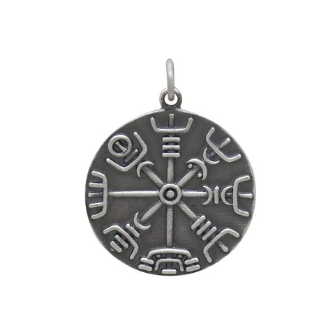 Compass Pendant with Mountain Center-4046