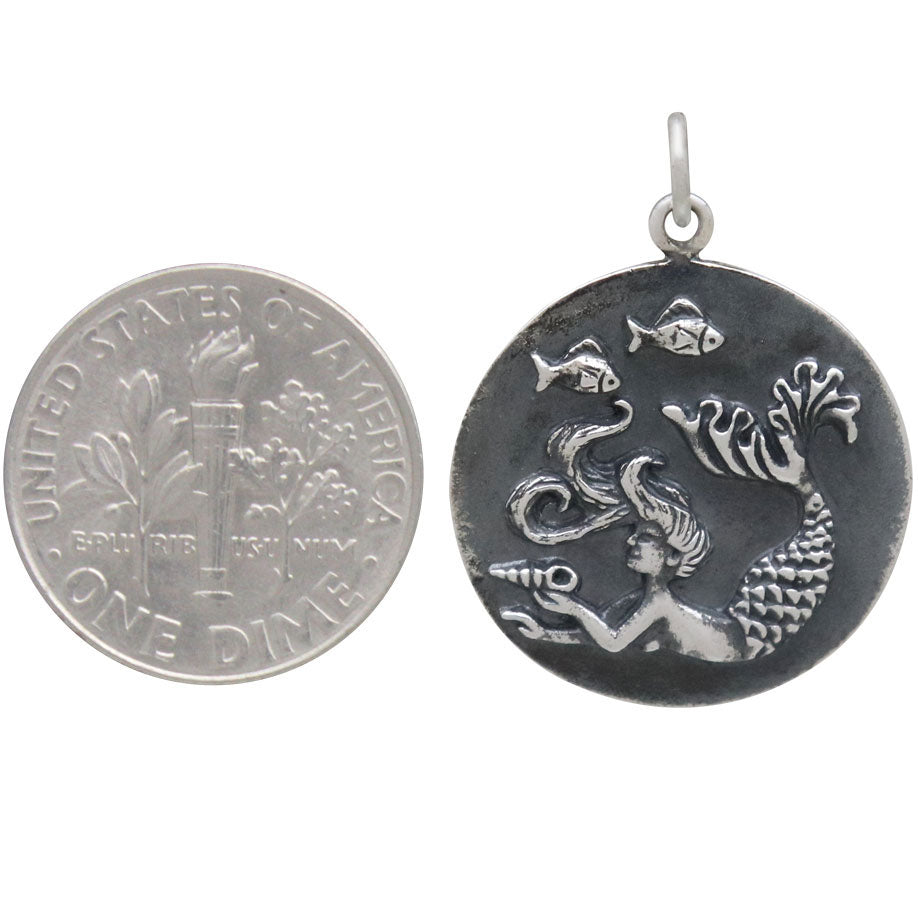 Mermaid Coin Charm-6281