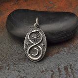 Infinity Snake Pendant with Sun and Moon -6318