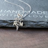 RN Caduceus Necklace-73059 - Kevin N Anna