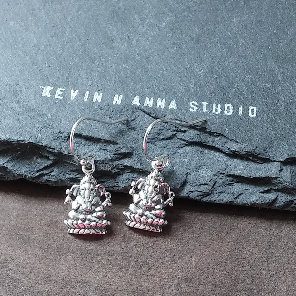 Ganesh Earrings-742E - Kevin N Anna