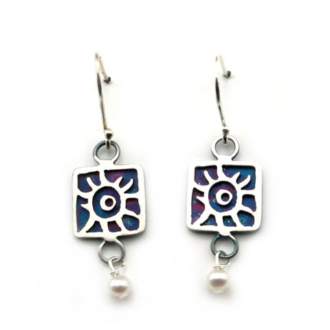 Sterling Silver Star of David Earrings-1815E