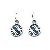 Dragonflies in Circle Sterling Silver Earrings (Multi Color Patinated) - Kevin N Anna