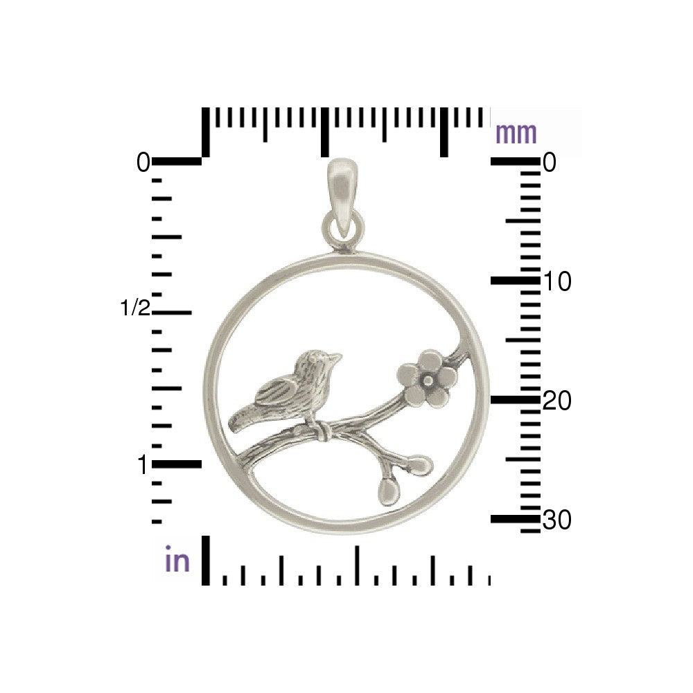 Bird Charm on Branch-899 - Kevin N Anna