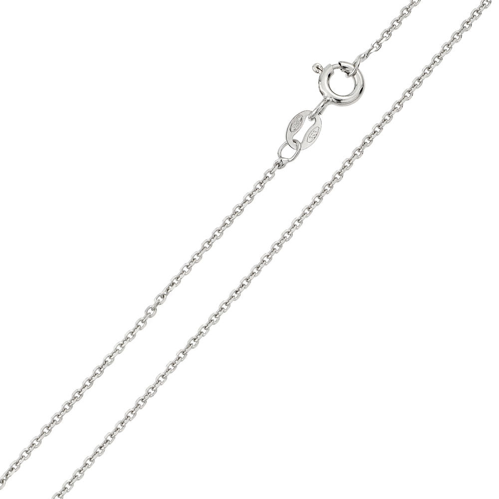 Anchor Chain - Sterling Silver 925 Rhodium Plated-Spring lobster clasp
