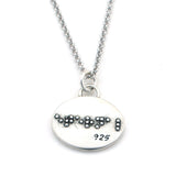 Eternal Braille Necklace-B02 - Kevin N Anna