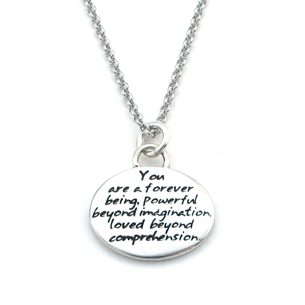 Eternal Braille Sterling Silver Pendant Necklace - Kevin N Anna