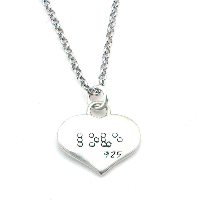Love Braille Necklace-B03 - Kevin N Anna