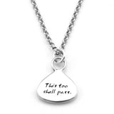 Time Braille Sterling Silver Pendant Necklace - Kevin N Anna