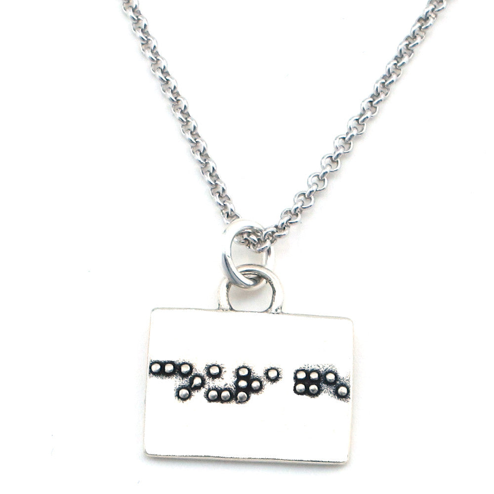 Courage Braille Necklace-B22 - Kevin N Anna