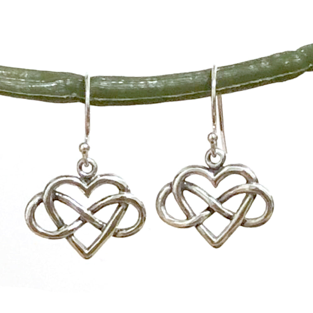 Infinity Heart Earrings-C11E