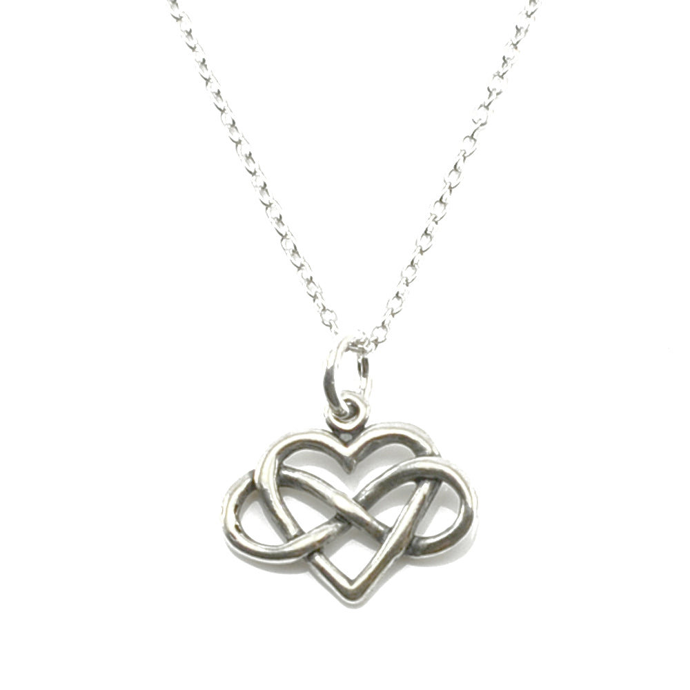 Infinity Heart Necklace-C11 - Kevin N Anna