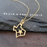 Gold Texas Necklace-C23G - Kevin N Anna