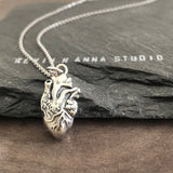 Heart Necklace (3D Anatomical) -C42 - Kevin N Anna