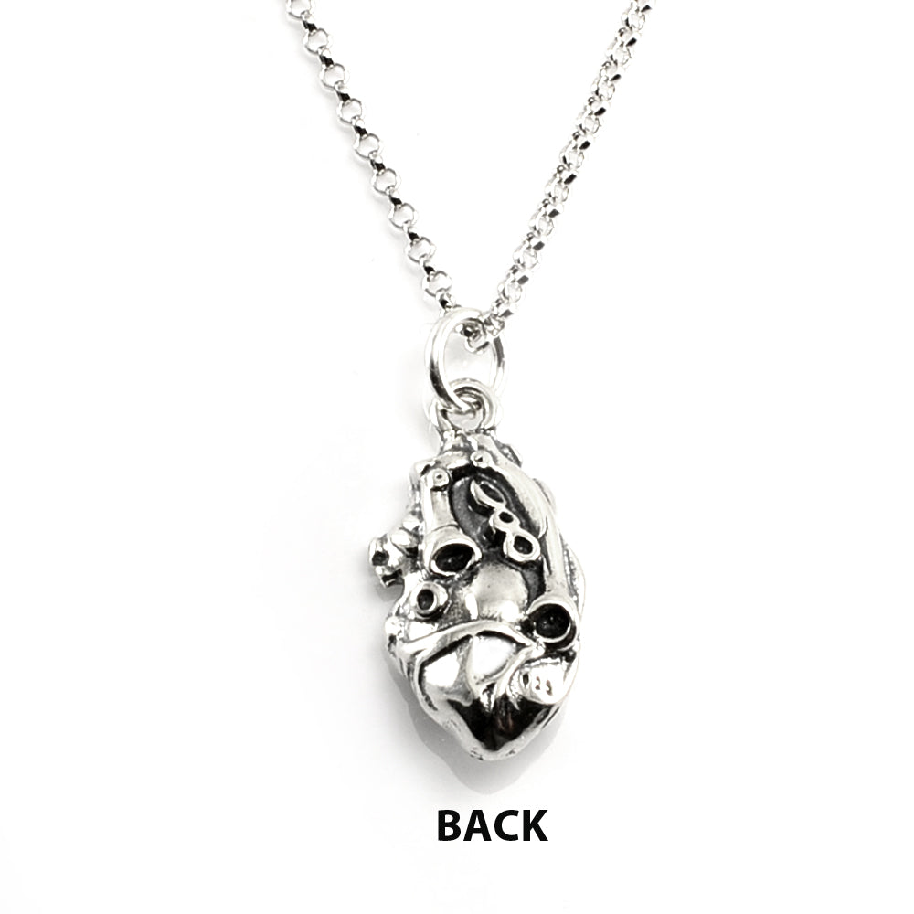 3D Anatomical Heart Necklace-C42 - Kevin N Anna