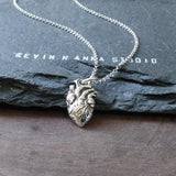 Anatomical Heart Necklace-C55 - Kevin N Anna