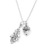 Acorn Oak leaf necklace-C6788