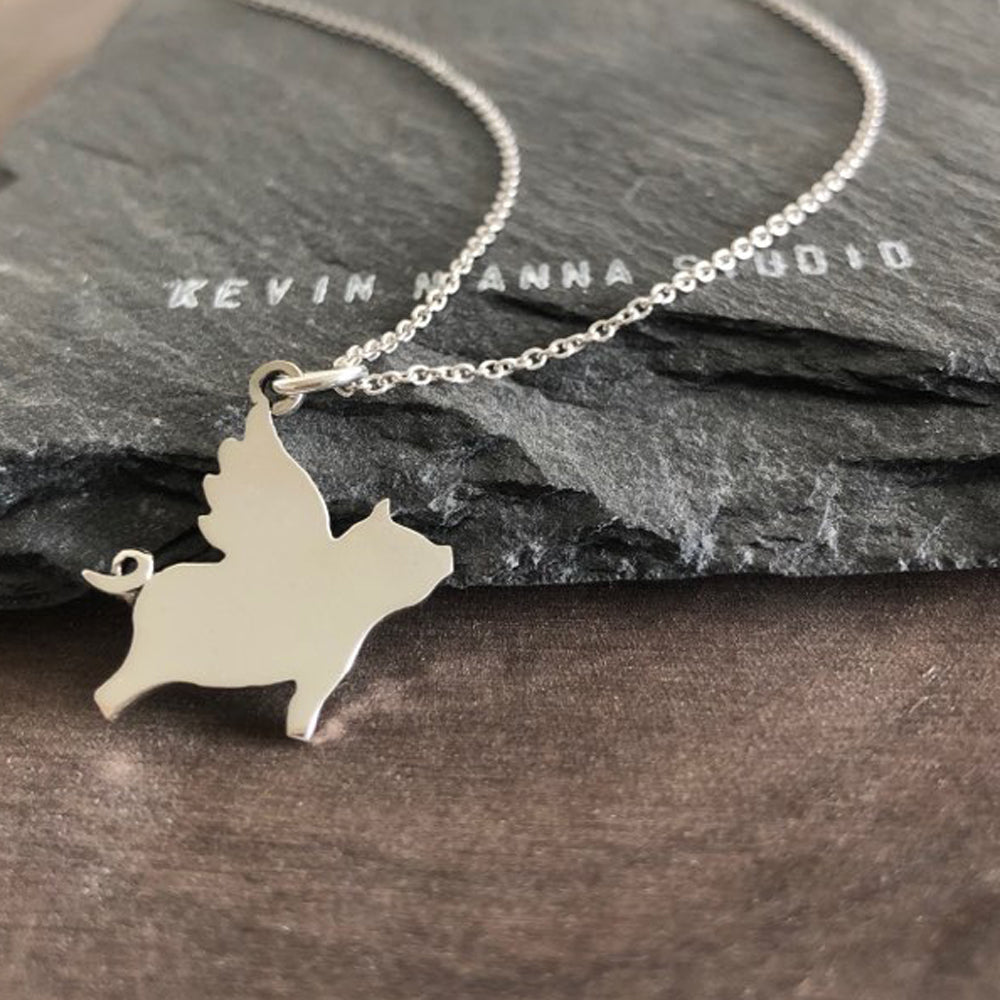 Flying Pig Necklace-C81 - Kevin N Anna