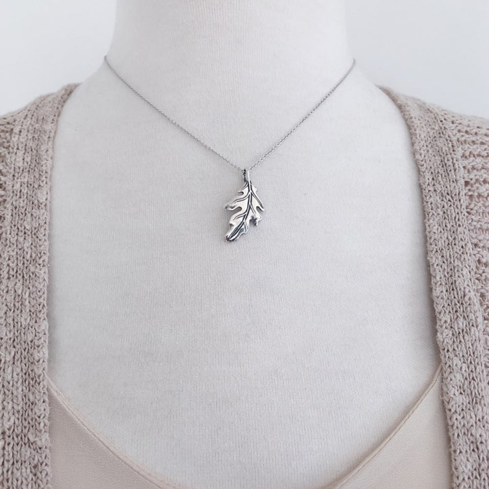 Oak leaf necklace-Large-C95 - Kevin N Anna