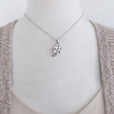 Oak leaf necklace-Large-C95