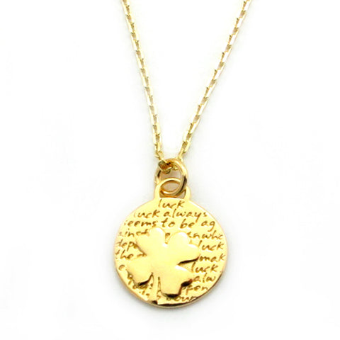 Gold Palm Tree Necklace-FT01G