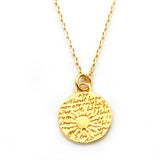 Sun Necklace (Hope)-D07SMG - Kevin N Anna