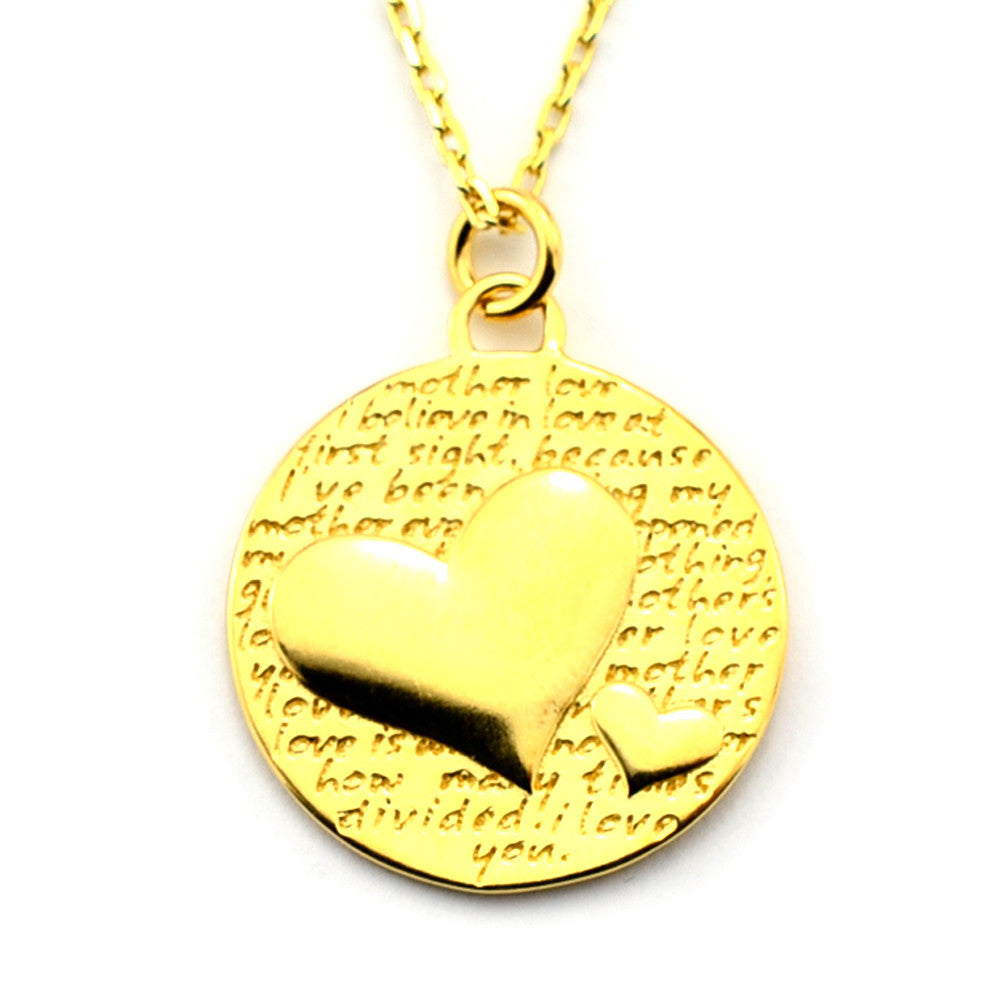 Two Hearts Necklace (Mother Love)-D101G - Kevin N Anna