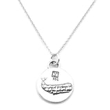 Whale Sterling Silver Small Pendant Necklace (Journey quote) - Kevin N Anna