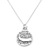 Whale Sterling Silver Small Pendant Necklace (Journey quote) - Kevin N Anna - 1