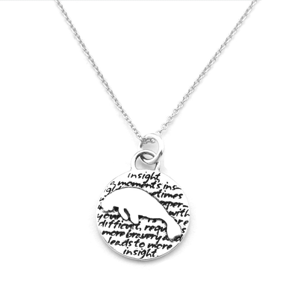 Manatee Necklace (Insight)-D113SM - Kevin N Anna