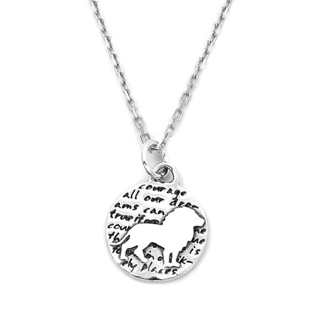 thumbnail braille necklace pendant product silver inspirational courage
