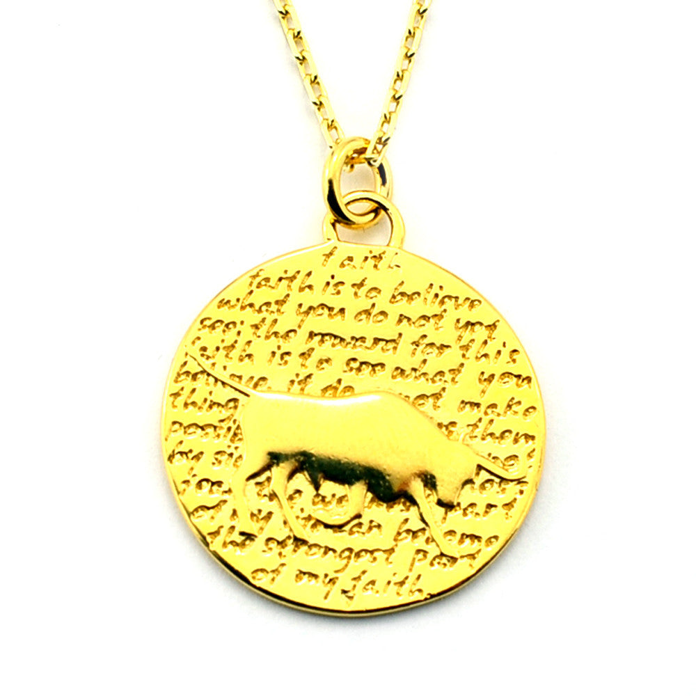 Taurus Necklace (Faith)-D98G - Kevin N Anna