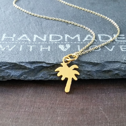 Gold Cactus Necklace-FT05G