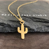 Gold Cactus Necklace-FT05G - Kevin N Anna