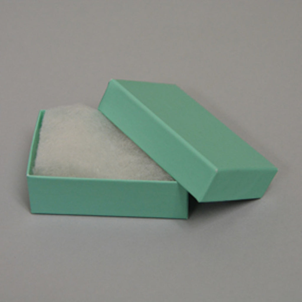 Teal blue cotton filled boxes - Kevin N Anna