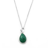 Emerald Onyx Necklace-15079 - Kevin N Anna