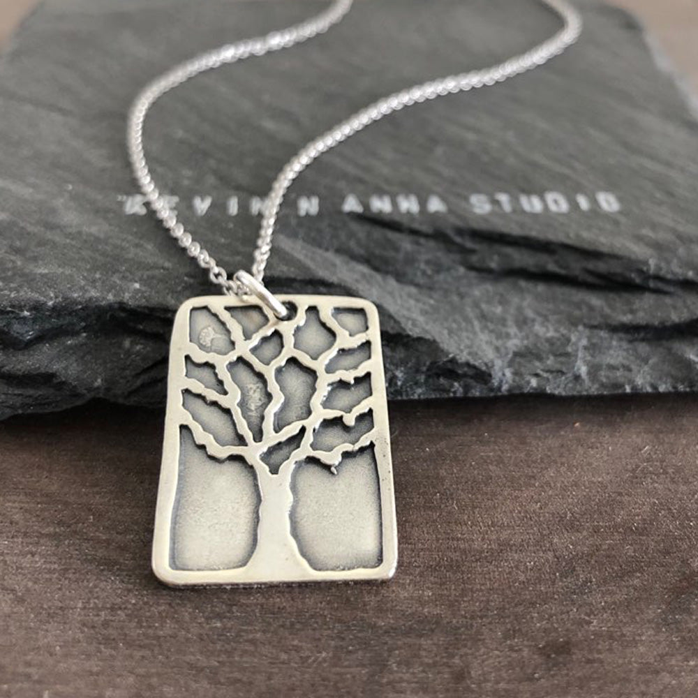 Tree Necklace-Medium-SL8526 - Kevin N Anna