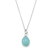 Sea Green Chalcedony Necklace-15085 - Kevin N Anna