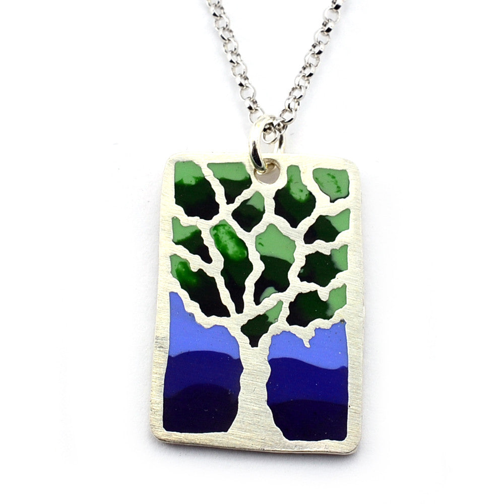 Large Tree Necklace (Hand Pigmented)